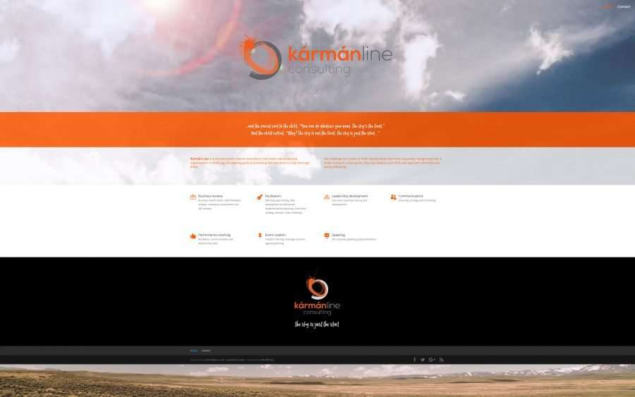 karman line - divi website design on the Sunshine Coast