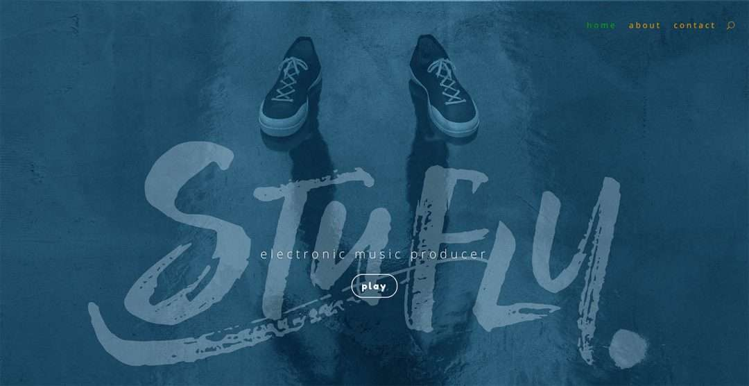 stufly - Music Production website - WordPress design