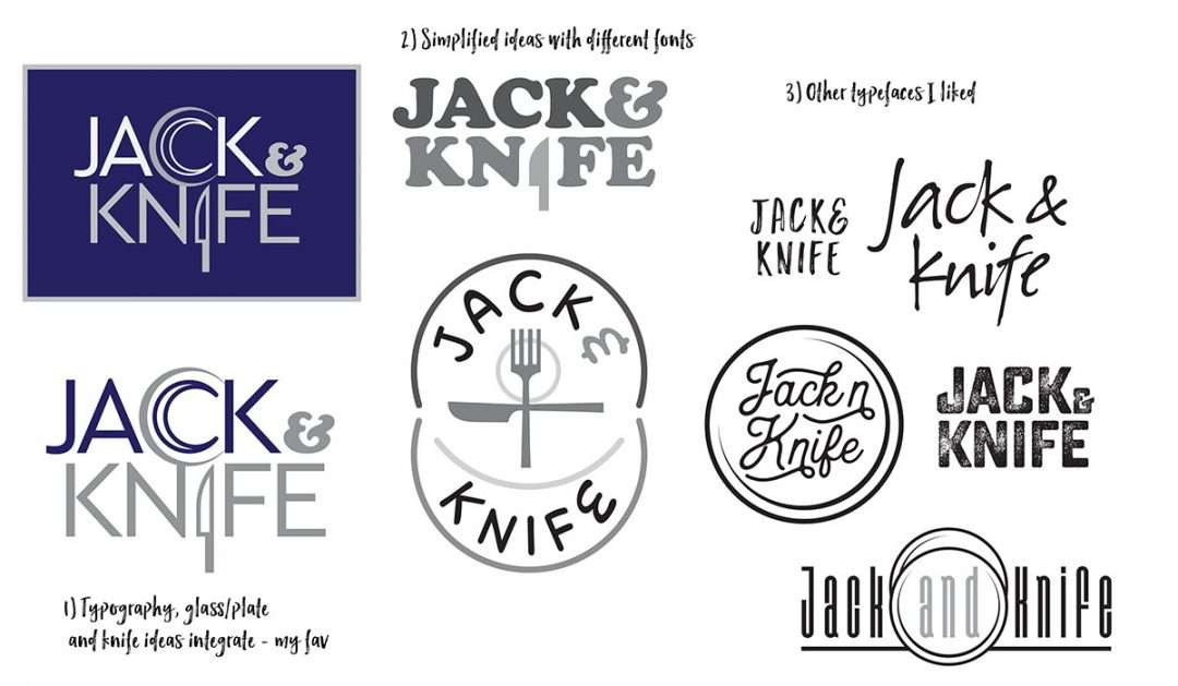 Logo design method – Jack and Knife