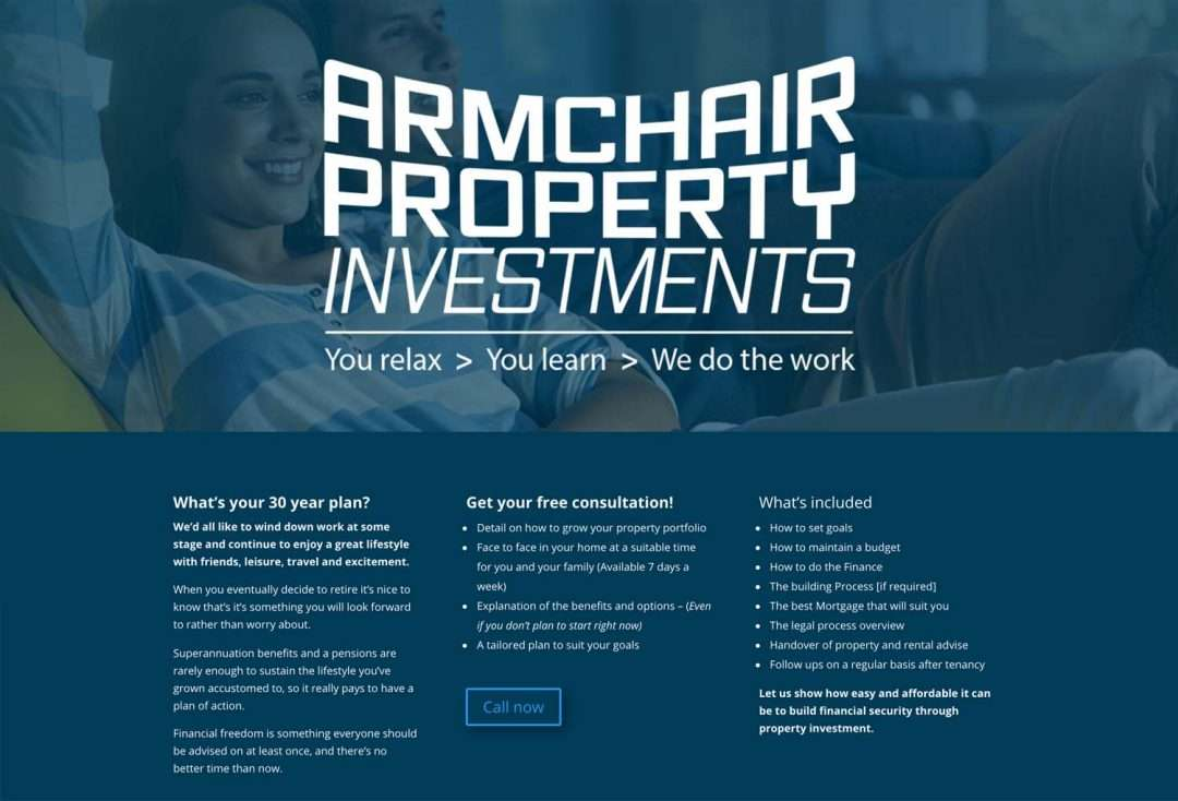 Armchair Property Investments - Sunshine Coast logo design