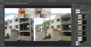Photoshop Sunshine Coast - Paint selection on building