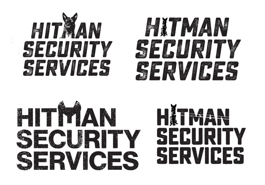 hitman security guard logo development and branding - Sunshine Coast