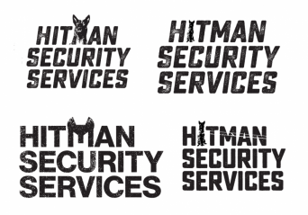 hitman security - logo development and branding - Sunshine Coast