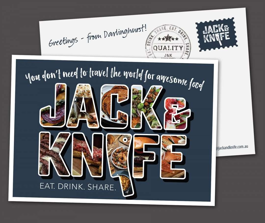 Jack and Knife postcard