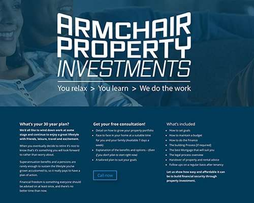 armchair property investments logo and landing page - sunshine design - WordPress.jpg