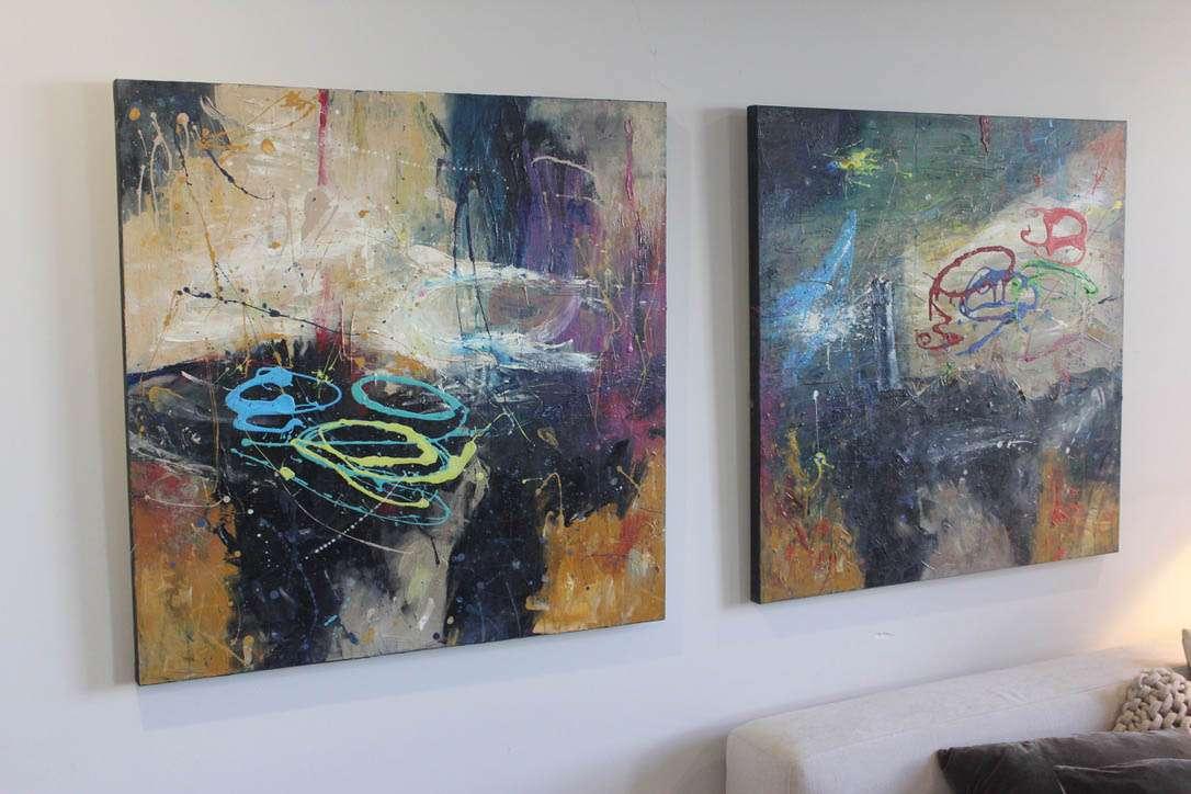 Acrylic canvas paintings - Sunshine Coast artist