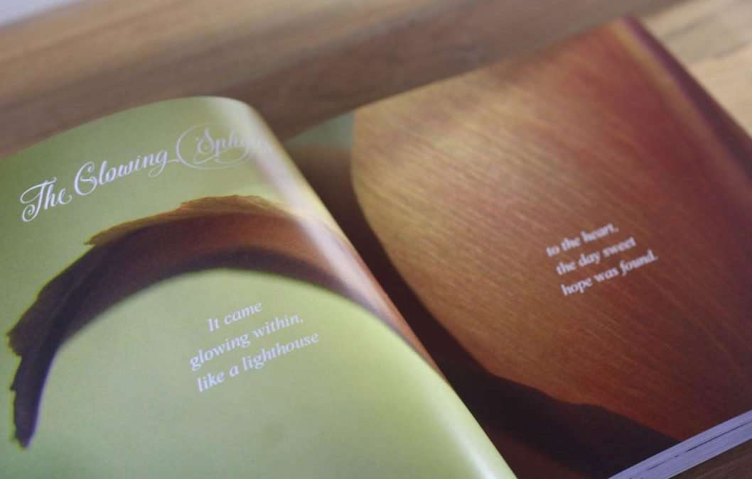 Book design – Mary Lyons  – A Beautiful Unfolding
