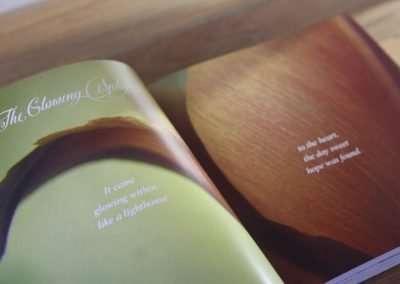 Book design – Mary Lyons  – A Beautiful Unfolding