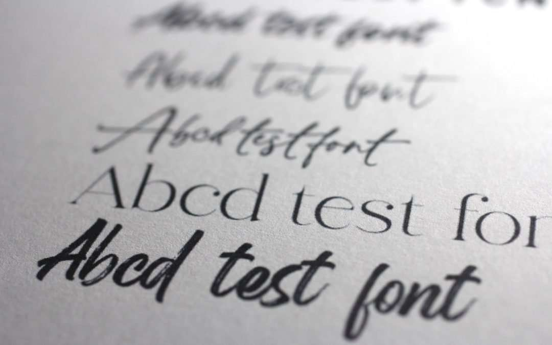 Testing only the best fonts to find what you want quickly