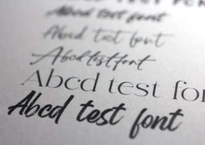 Researching premium fonts to suit the design project