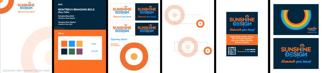 Style guide for logos and branding - Sunshine Coast brand designer