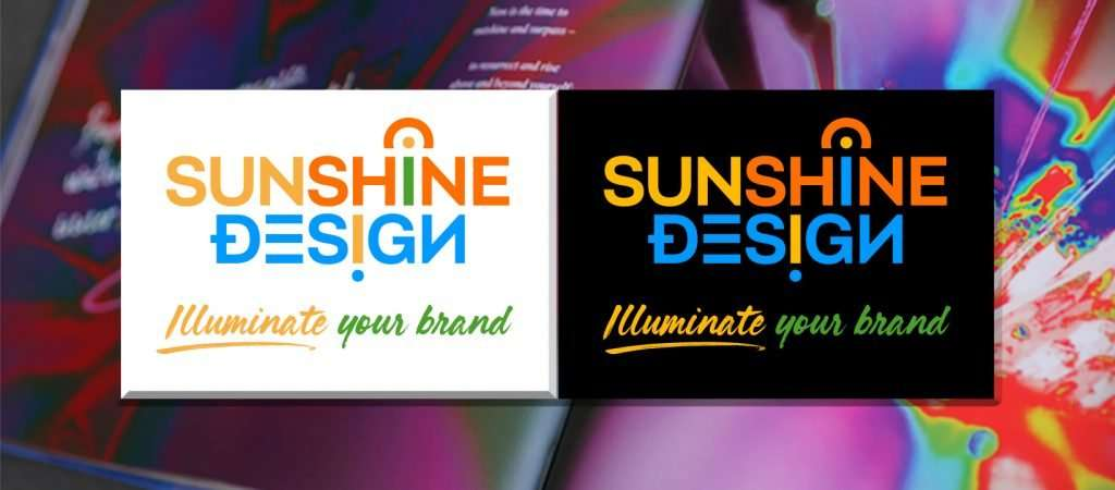 Logo design - positive and negative versions of logos